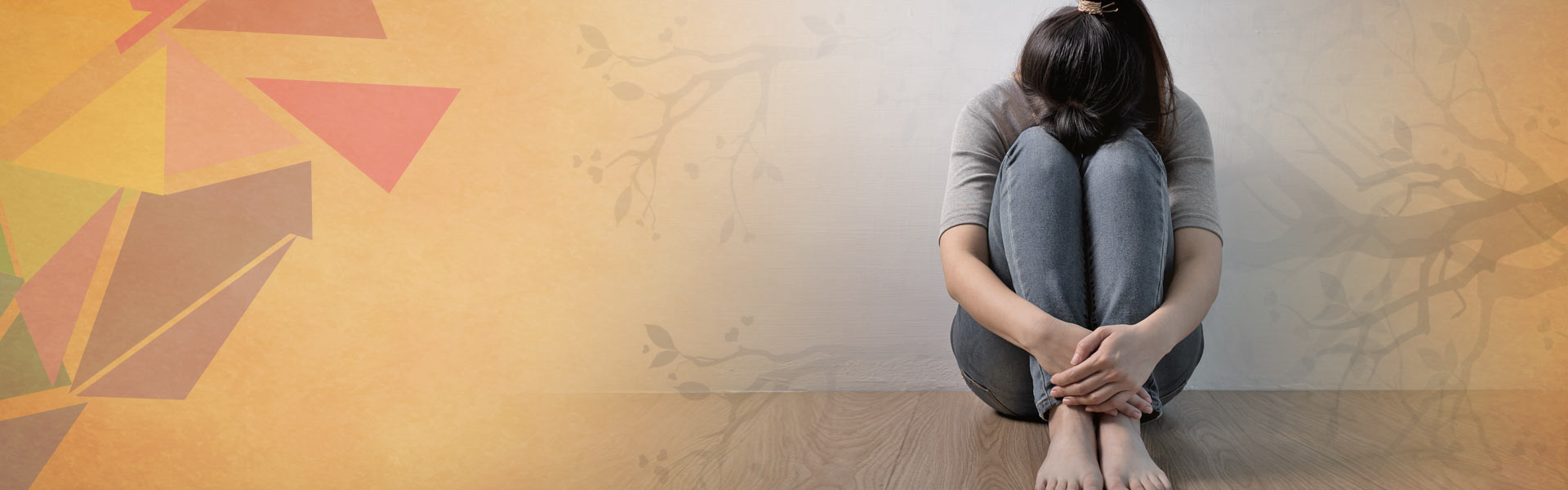 image showing depressed woman